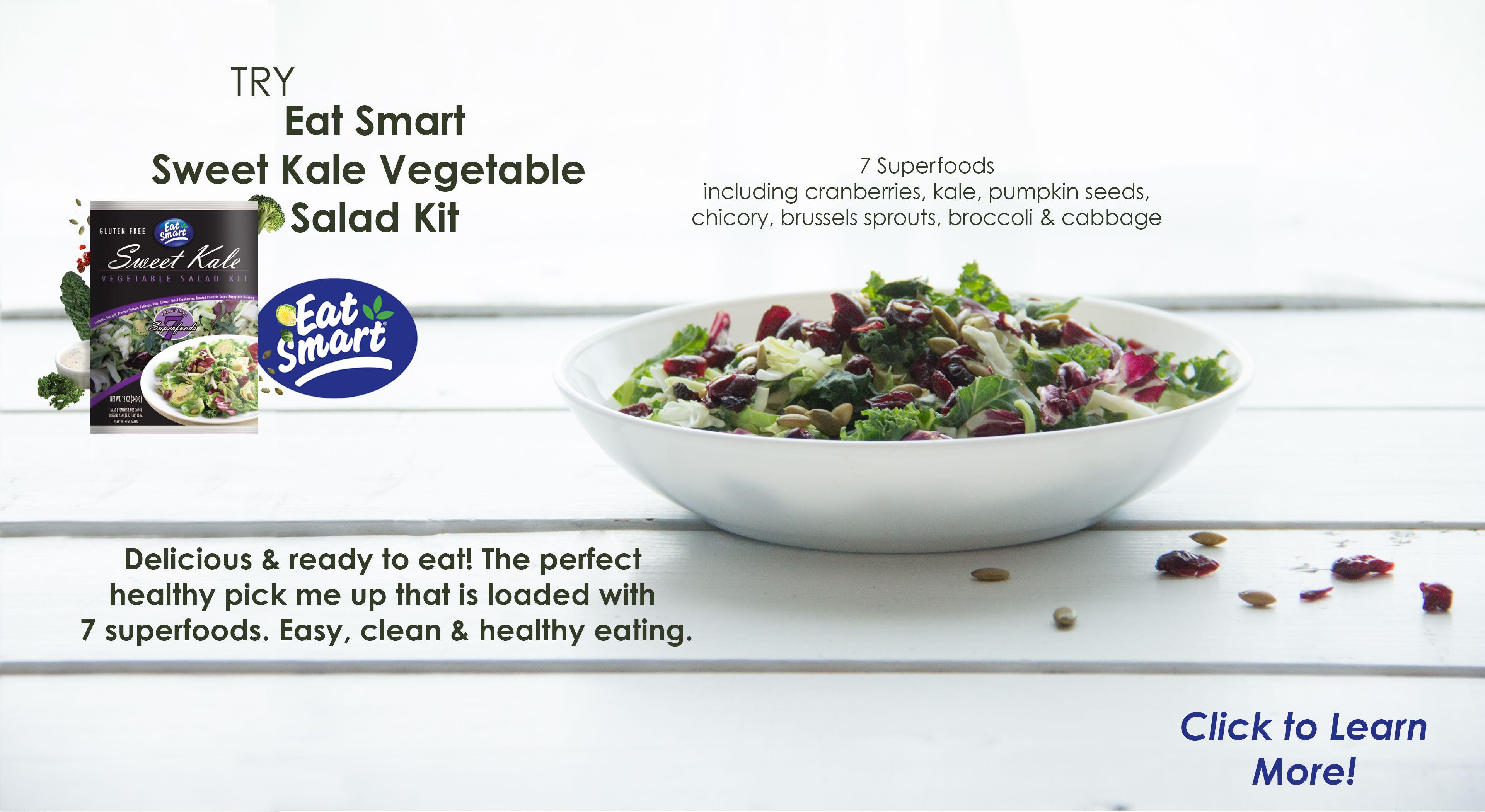 eat smart sweet kale vegetable salad kit vince 39 s market with 4 locations to serve you vince. Black Bedroom Furniture Sets. Home Design Ideas