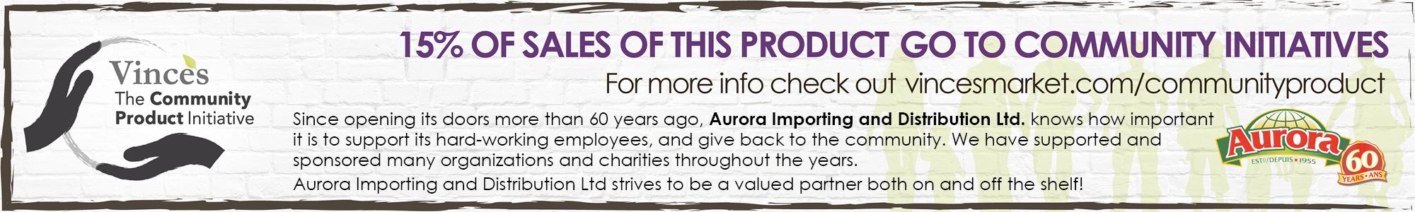 Vince's Community Product Mar 9-22 - Aurora Pasta Sauces - Feature