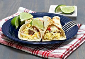 Breakfast burrito recipe from Vince's Market - local produce grocery store