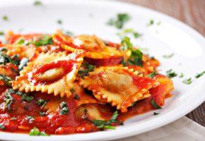 ravioli, pasta